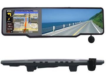 Зеркало заднего вида с видеорегистратором и антирадаром навигатором